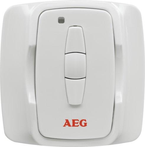 AEG IR Funk W, Funk-Fernbedienung zur Regelung des IR Funk Dimmer 2000 für Infrarot-Heizstrahler, weiß, 229965 -