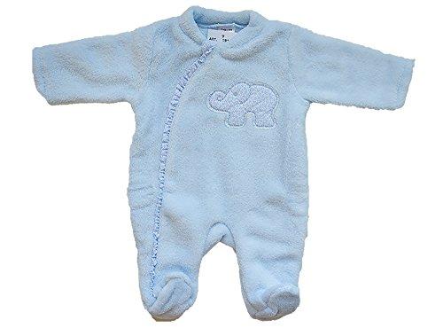 Buzo para dormir con un elefante en el pecho (3 meses, azul)