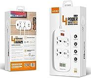 LDNIO SC4407 EU US UK 2500W Electrical Socket QC3.0 USB Fast Charging Universal Extension Power Strip 4 USB 10