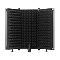 Lixada Recording Microphone Wind Screen Board Sound-absorbing Cover Microphone Sound Insulation Screen Sound-proof Plate