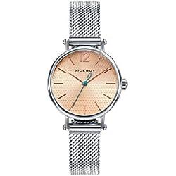 Viceroy Reloj Analogico para Mujer de Cuarzo con Correa en Acero Inoxidable 471120-95