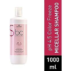 Schwarzkopf BC Bonacure - Champú Micelar Sin Sulfatos, pH 4.5 Color Freeze, 1000 ml