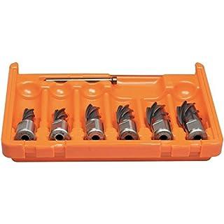 Alfra 1902003050 0007613280151 Core Drill Set, Silver/Orange, Set of 6 Pieces