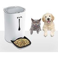 Programmierbarer Futterautomat für Hunde und Katzen, 6.5L bis zu 3Kg, bis zu 4 Mahlzeiten pro Tag mit Timer, 8-Sekündige Sprachaufnahme, LCD Display