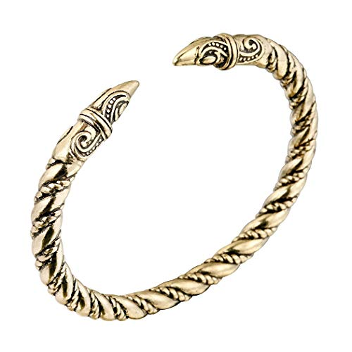 Louleur Antique Silver Color Stainless Steel Viking Dragon Bracelet Men Jewelry Vintage Adjustable Cuff Bangle Bracelet Soft And Light Jewelry & Accessories