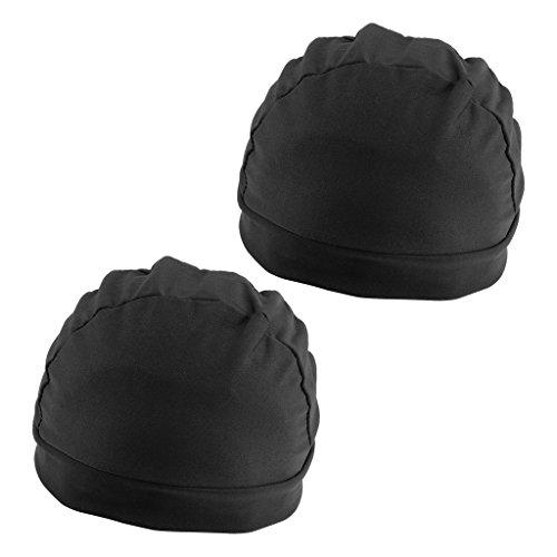 CUTICATE 2x Black Mesh Perücke Cap Spandex Net Dome Cap Für Perücke Machen Spandex Cap