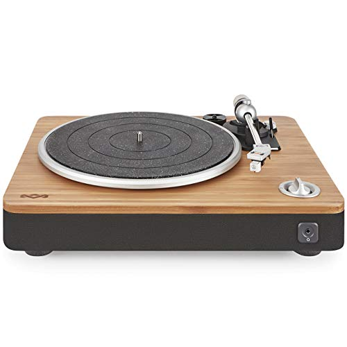 House of Marley Stir It Up Plattenspieler - Vinyl-Plattenspieler, Record Player, Turntable, Stereo-Vorverstärker, USB-Anschluss, Schallplatte zu PC, 33 + 45 RPM, Anti-Skating, RCA Audio out 3.5mm (Bambus-computer-lautsprecher)