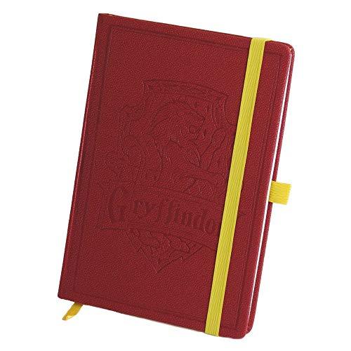 Harry Potter – Gryffindor Wappen – A5 Notizbuch   100 linierte Seiten   Rot