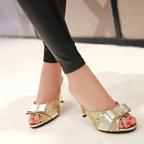 AIYOUMEI , Chaussons Mules femme Or