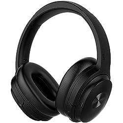 cowin SE7 Casque Bluetooth 5.0 Réduction de Bruit Active sans Fil Micro Intégré/Aptx Casque Pliable 30 Heures d'Autonomie pour Le Travail/Le Voyage (Noir)
