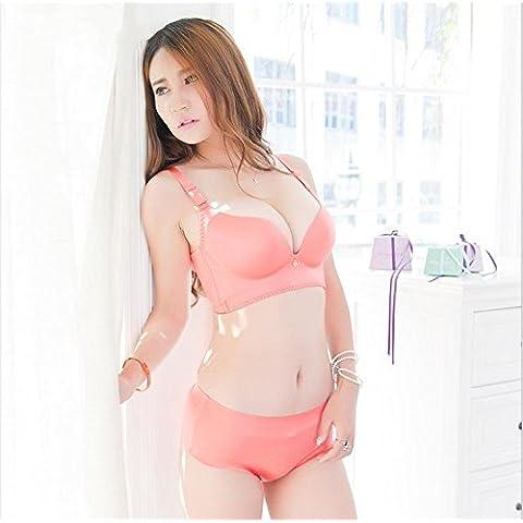 W & NY 3d masaje comodidad sujetador de alambre rueda no un rastro detrás de ajuste ropa interior Set, romántico polvo, 85A