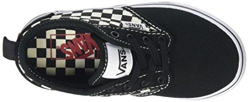 Vans  Yt Atwood Slip-on, Sneakers Basses garçon Noir (Checkers Black/natural)