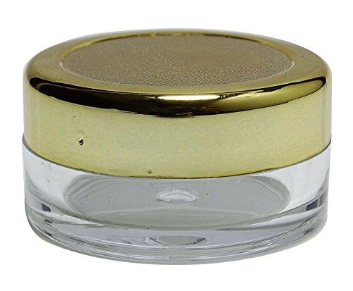 100 Pièces Vides En Plastique Transparent Solides Pots De Parfum Avec Bouchon Doré Rechargeables Stockage Cosmétique Conteneurs Bocaux 12 Grammes