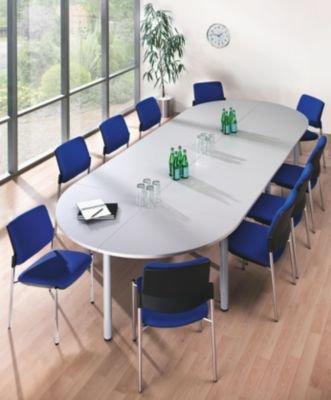 office akktiv Konferenztisch - Viereckplatte LxB 1200 x 800 mm, lichtgrau - Besprechungstisch Besprechungstische Bürotisch Konferenztisch Mehrzwecktisch Tisch office akktiv
