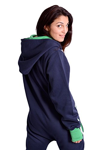 The Classic Unisex Onesie in Inky Blue and Green - XL - 4