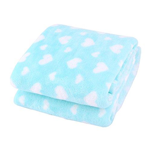 Muster Flanell-pyjama (sourcingmap Cyan Flanell Herz Muster Warme Kleidung Pyjamas Decke Machen Stoff DIY Tuch)