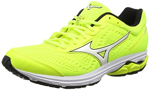 Mizuno Wave Rider 22, Scarpe da Corsa per Uomo, Giallo (Safety Yellow / Black / Safety Yellow 10), 40.5 EU