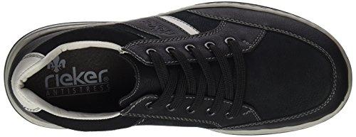 Rieker 17312, Sneakers Basses Homme Noir (Schwarz/schwarz/offwhite/schwarz)