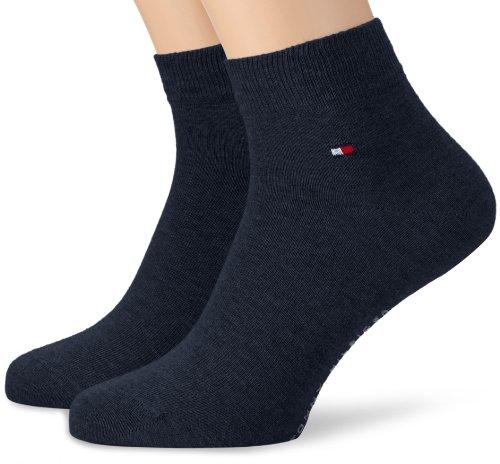 Tommy Hilfiger Herren Socken TH MEN QUARTER 2P, Gr. 43/46, Blau (jeans)