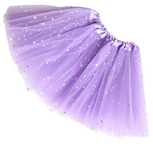 Reciy Sparkle für Mädchen Prinzessin Ballett Dance Layered Tüll Tutu Röcke, 2-8T, Hellviolett (Baby Mädchen Kleidung Teal)