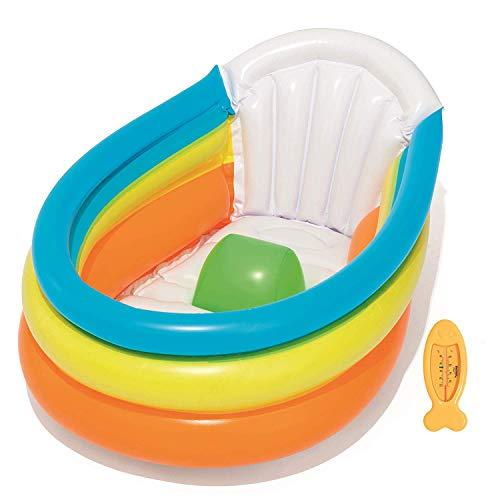 Cute Inflatables Bagnetto Gonfiabile | Casa o Viaggio! | Vaschetta per Il Bagnetto Portatile Facile da Gonfiare | Include Termometro a Forma di Pesce Divertente |