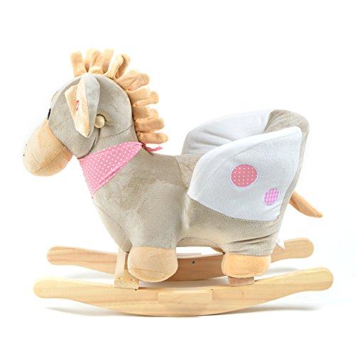 Pink Papaya Schaukeltier - Esel Pepe - Kinder und Baby Schaukelpferd, spezieller Schaukelstuhl für Kinder, mit Sound, Kopfhöhe ca. 50 cm, Sitzhöhe ca. 30 cm - 4