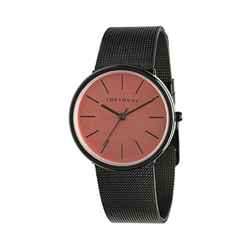 tokyobay-t2031-co-damen-kleine-jet-edelstahl-mesh-armband-band-rosa-zifferblatt-watch
