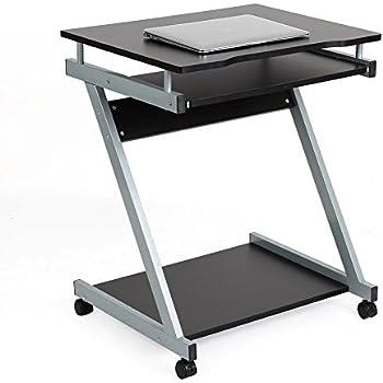 Homfa scrivania per computer tavolo porta pc da ufficio salotto camera da letto con ripiani - Porta pc da letto ...