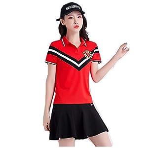 B2KEY®Sport Freizeitkleidung Sportbekleidung Anzug Damen Kurzarm T-Shirt Damen Kurzer Rock Golfrock Tennisrock…