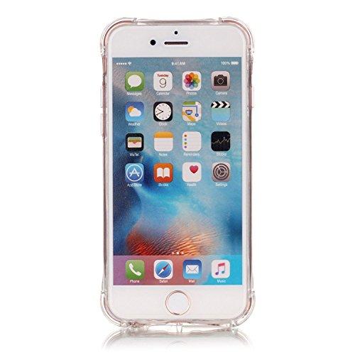 Cuitan Bronzing Transparent TPU Weiche Hülle Schutzhülle für Apple iPhone 7, Modisch Muster Serie Durchsichtig Rück Abdeckung Back Cover Case Handytasche Rückseite Tasche Handyhülle für iPhone 7 - Sch Schmetterling