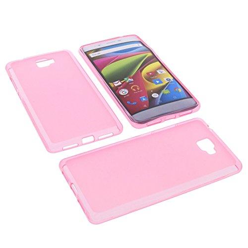 foto-kontor Tasche für Archos 55 Cobalt Plus Gummi TPU Schutz Hülle Handytasche pink