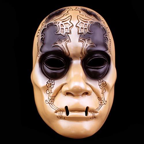PPO Feiner Harzhandwerk Harry Potter-Film, der Todesser-Maskendekoration Halloween-Maske umgibt