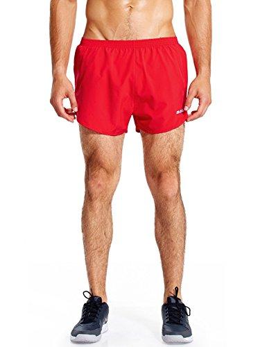 Baleaf Herren Running Shorts Schnell Trocknende Laufshorts Red Size L