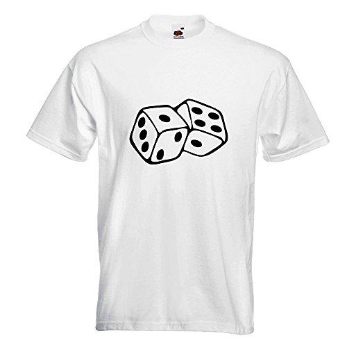 KIWISTAR - Würfel T-Shirt in 15 verschiedenen Farben - Herren Funshirt  bedruckt Design Sprüche