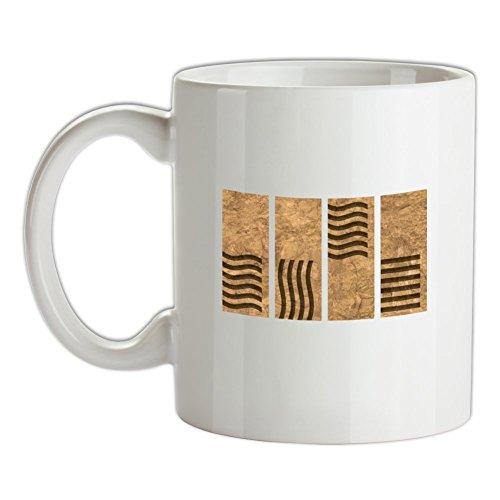 Dressdown 4 Element Stones - Bedruckte Kaffee- und Teetasse (Leeloo Fünfte Element)