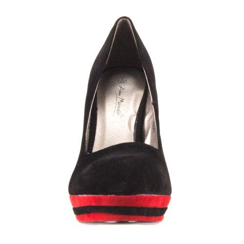 Spot On , Escarpins pour femme Noir - Black-Red