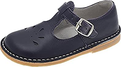 Oscar Knepp velcro t-bar shoes for kids and teenagers in navy size EU 28