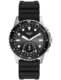 Fossil Smartwatch Híbrido para Hombre de Connected con Correa en Silicona FTW1302