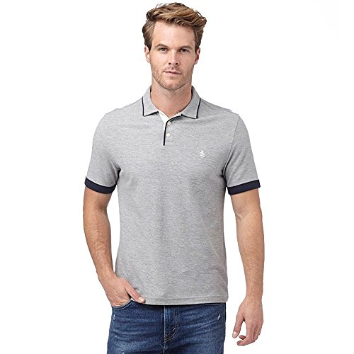 original-penguin-polo-con-bottoni-uomo-grey-heather-medium