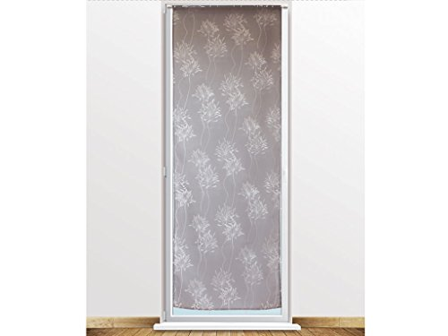 soleil-docre-046675-fleur-brise-bise-dvor-polyester-gris-70-x-200-cm
