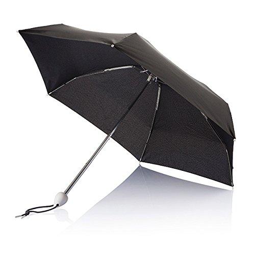 XD Parapluie de Poche Droplet Pliant, 88 cm, 19,5 Pouces, Blanc