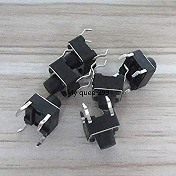 Sellify 50pcs 4PIN micro pulsador interruptor del tacto interruptor de tacto negro...