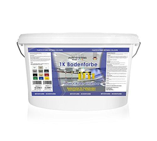 10L 1K WB Bodenfarbe Betonfarbe Garagenfarbe Bodenbeschichtung Industrieboden Farbe