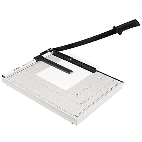 FIXKIT Papierschneidemaschine, DIN A3 Hebelschneider, mit einer Schnittlänge von 48.5cm, für Gutschein, Bastelpapier, Etikett und Foto
