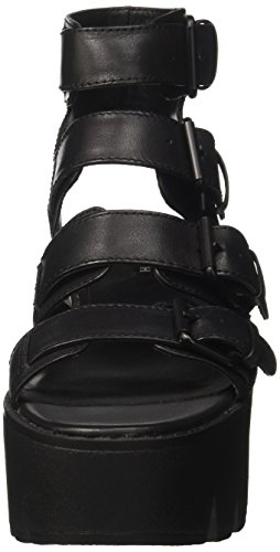 Windsor smith Presley, Sandales Bout Ouvert Femme Nero (Black Black)