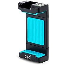 JJC–Soporte universal de montaje en trípode con 56–105mm ajustable abrazadera, fría, zapata espíritu Nivel para Smart teléfonos por ejemplo iPhone, Huawei, mi, Samsung de 1/4–20trípode Monopod, Selfie Stick, (azul)