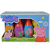 Peppa Pig Bowling Set in Display Box 6 Pins and Bowling Ball for Kids