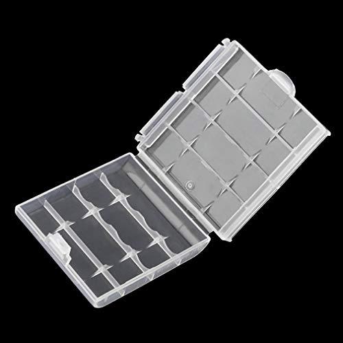 Kunststoff Batterie Aufbewahrungsbox Hartplastik Fall Batterien Halter 6cm × 1,5 cm × 6 cm (Farbe: transparent)