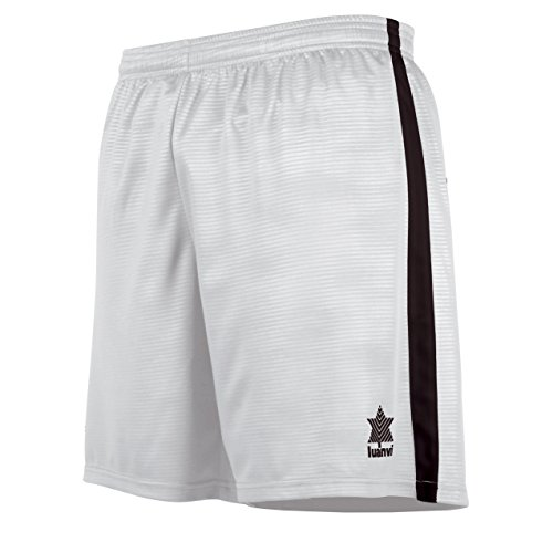 Luanvi 08480_0999, pantaloncini con banda decorativa su entrambi i lati uomo, bianco, s