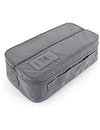 Mezon's Travel Handle Divided Underwear Socks Undergarments Waterproof Pouch Organizer Bag - Multi Color